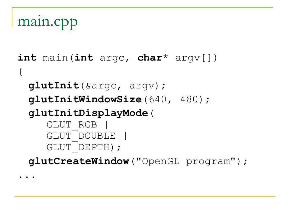 main.cpp int main(int argc, char* argv[]) { glutInit(&argc, argv);